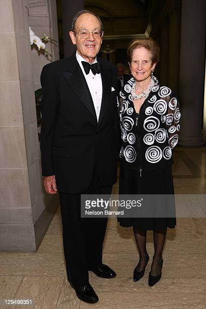 George Grumbach and Antonia M Grumbach attend the 2011 Frick Collection Autumn Dinner Honoring Anne L Poulet at The Frick Collection on October 17...