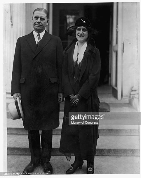 George H. Dern, governor of Utah, stands with Nellie Tayloe Ross, governor of Wyoming. Ross was the first woman governor of a state.