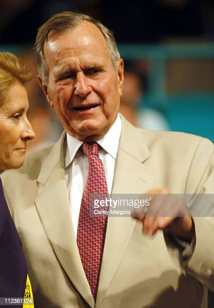 George H. W. Bush during 2004 Republican National Convention - Day 3 - Inside at Madison Square Garden in New York City, New York, United States.