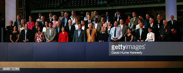 George H W Bush's 80th birthday celebration at Minute Maid Stadium June 12 in Houston Texas The event benefited three of the former president's...