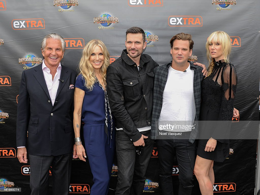 "George Hamilton, Ashley Hamilton, Sean Stewart, Kim Stewart and Alana Stewart On ""Extra"""