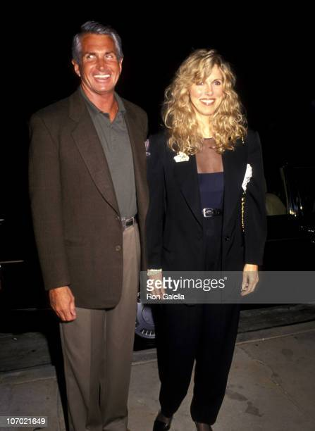George Hamilton and Alana Hamilton Stewart during Alana Hamilton Stewart and George Hamilton at Asylum Restaurant in Beverly Hills March 8 1991 at...