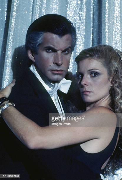 George Hamilton and costar Susan Saint James at the Love at First Bite photocall circa 1979 in New York City