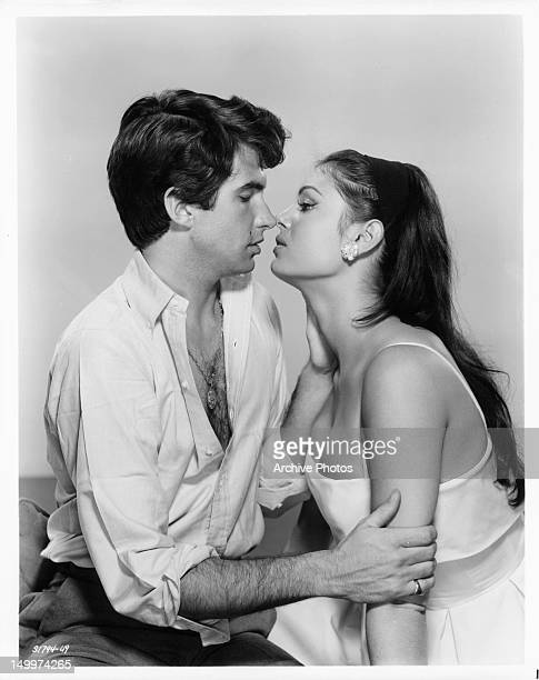 George Hamilton and Daliah Lavi are about to kiss in a scene from the film 'Two Weeks In Another Town' 1962