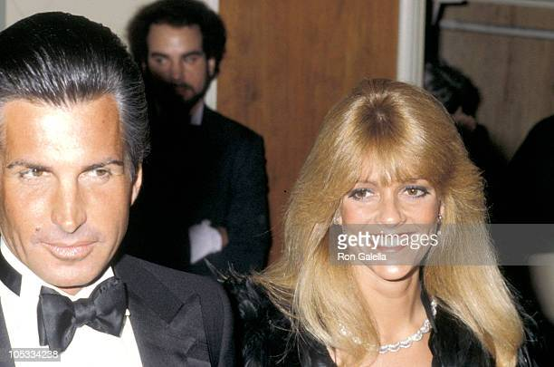George Hamilton and Liz Treadwell during 37th Annual Golden Globe Awards at Beverly Hilton Hotel in Beverly Hills California United States