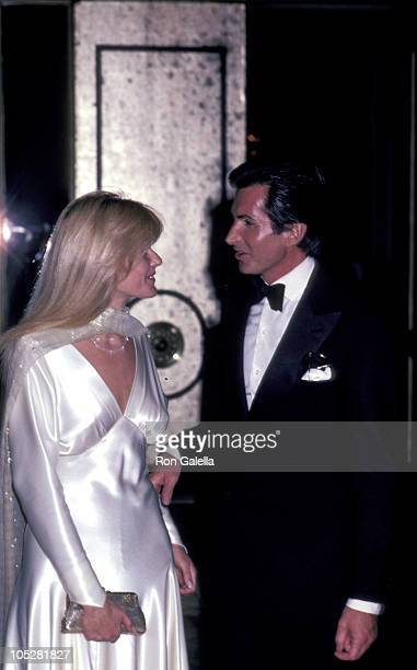 George Hamilton and Liz Treadwell during 38th Annual Golden Globe Awards at Beverly Hilton Hotel in Beverly Hills California United States
