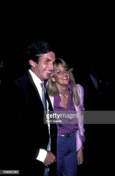 George Hamilton and Liz Treadwell during Stepping Out January 29 1981 at Beverly Hills Wilshire in Beverly Hills California United States