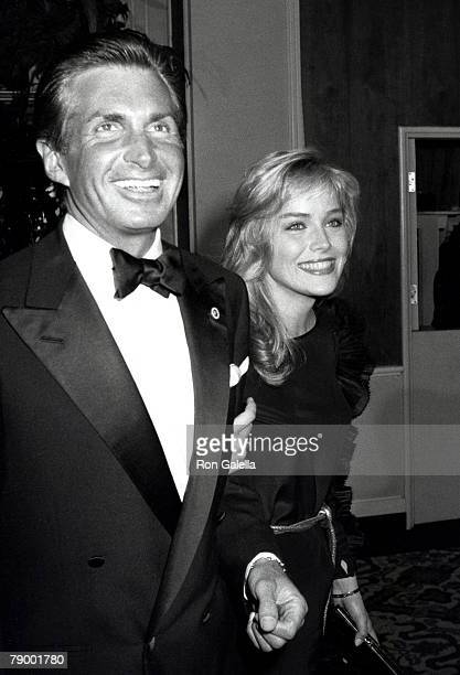 George Hamilton and Sharon Stone
