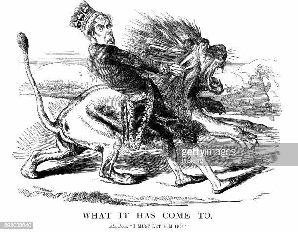 George Hamilton Gordon 4th Earl of Aberdeen Scottish statesman British Prime Minister 185255 Reluctantly took Britain into Crimean War 'Punch'...