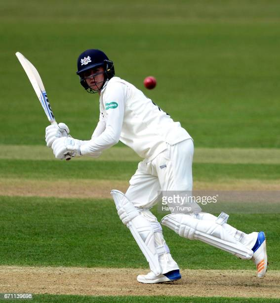 George Hankins of Gloucestershire bats during Day One of the Specsavers County Championship Division Two match between Gloucestershire and Durham at...