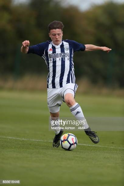 George Harmon of West Bromwich Albion during the U18 Premier League match between West Bromwich Albion and Manchester United on August 19 2017 in...