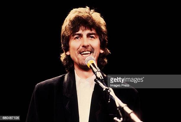 George Harrison at the 1988 Rock n Roll Hall of Fame Induction Ceremony circa 1988 in New York City.