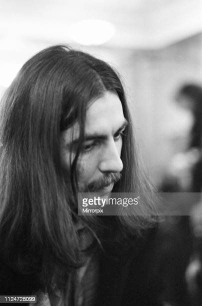 George Harrison at the Midland Hotel in Birmingham, Thursday 4th December 1969. The night before George Harrison performed on stage as part of the...