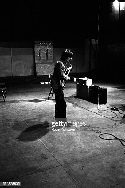 George Harrison is pictured at the Donmar Rehearsal Theatre central London during rehearsals for The Beatles upcoming UK tour November 1965