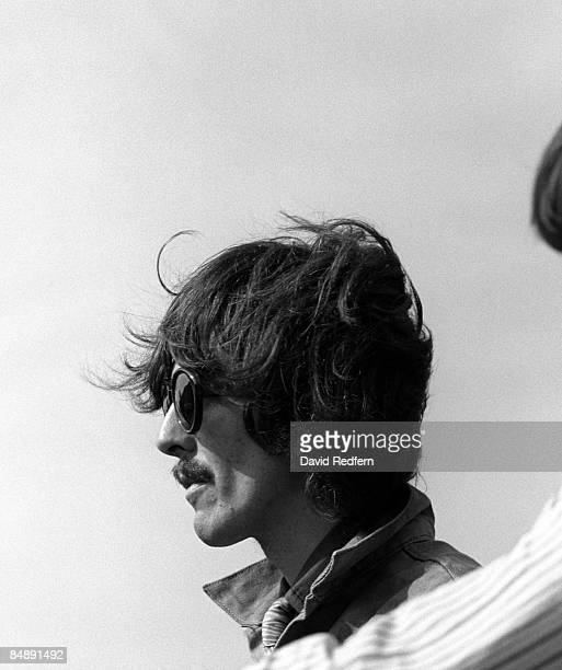 Photo of MAGICAL MYSTERY TOUR and George HARRISON and BEATLES George Harrison during filming of Magical Mystery Tour in Newquay