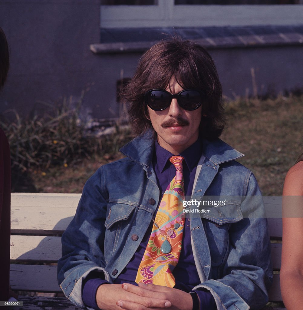a862446ffacf Guitarist George Harrison of The Beatles during the filming of the ...