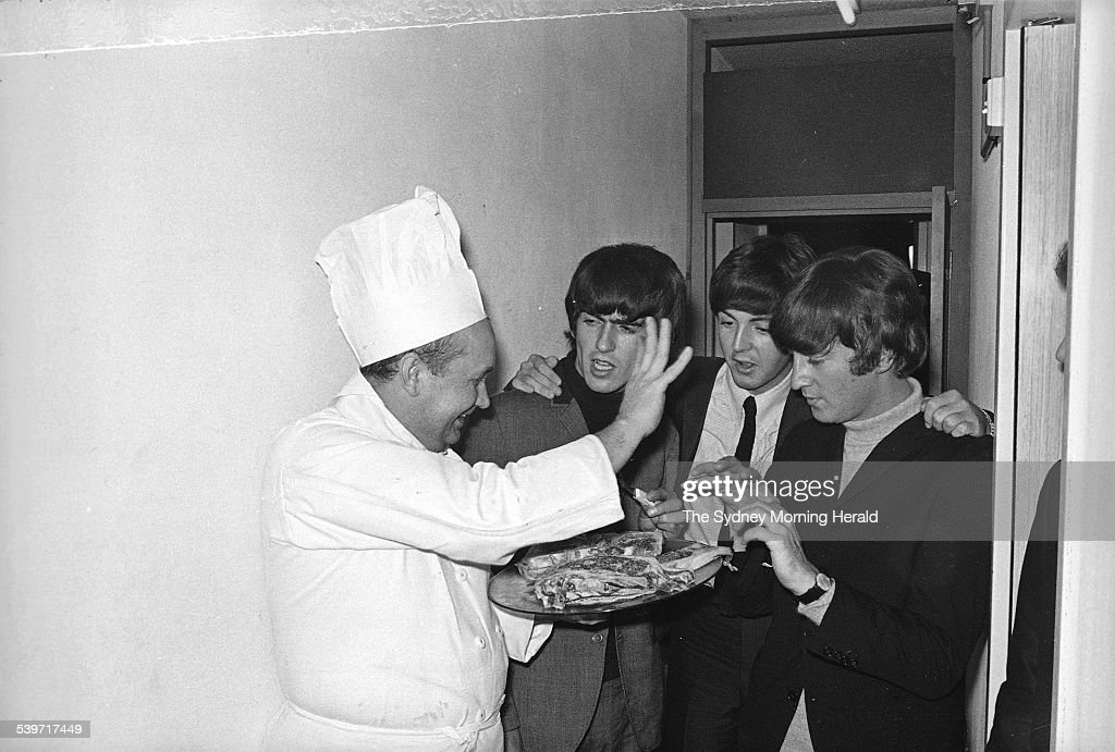 George Harrison Paul McCartney And John Lennon Ambush The Chef At Sheraton Hotel