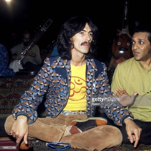 George Harrison With Ravi Shankar, .