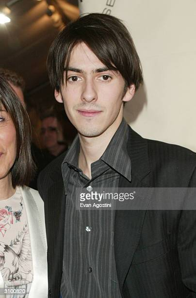 George Harrison's son Dhani Harrison arrives at the Rock Roll Hall Of Fame 19th Annual Induction Dinner at the Waldorf Astoria Hotel March 15 2004 in...