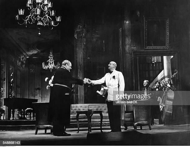 George Heinrich Actor Germany *09101893 Acting with Hubert von Meyerinck in 'Die Soehne des Herrn Grafen' by Cherardo Cherardi Schiller Theater...