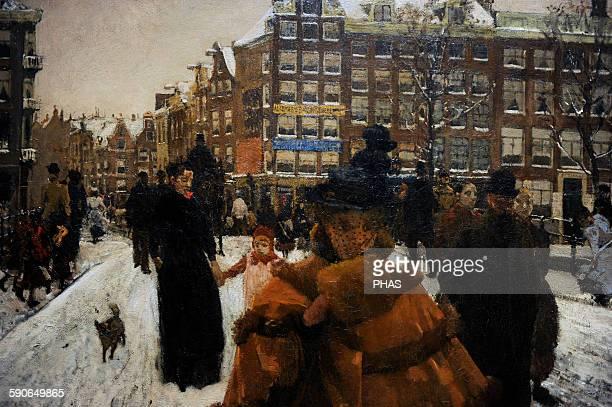 George Hendrik Breitner Dutch painter The Singel Bridge at the Paleisstraat in Amsterdam 18961898 Rijksmuseum Amsterdam Holland