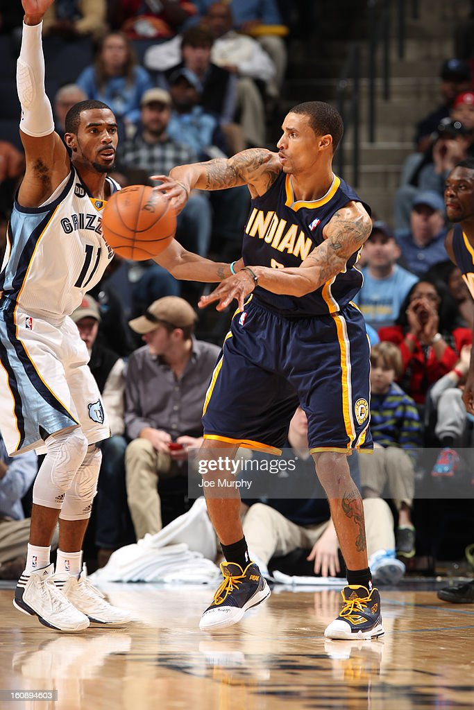 George Hill #3 of the Indiana Pacers passes the ball against the Memphis Grizzlies on January 21, 2013 at FedExForum in Memphis, Tennessee.