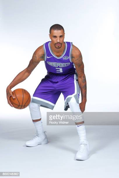 George Hill of the Sacramento Kings poses for a portrait during Media Day on September 25 2017 at the Golden 1 Center in Sacramento California NOTE...