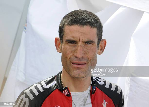 George Hincapie of BMC Racing Team during Stage 4 of the Tour de France on Tuesday July 5 2011 in Lorient to MurdeBretagne France