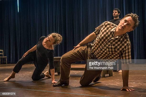 George Hirsch rear Bill Pullman foreground and Tamara Hurwitz Pullman leftt as Choreographer Liz Lerman not pictured rehearses her latest production...