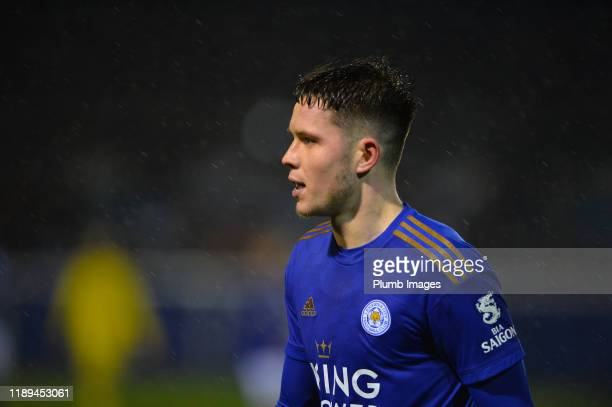 George Hirst of Leicester City during the Leicester City U23 v Villarreal B PL International Cup at Holmes Park on December 18th 2019 in Leicester...