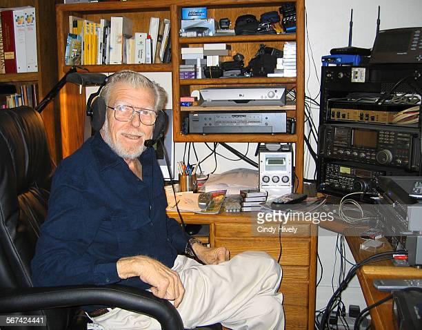 George Hively is shown in his home office with his ham radio equpment in 2005 George Hively was born April 28 1933 in Hollywood California and passed...