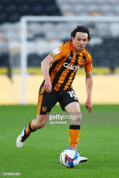George Honeyman of Hull City during the Sky Bet League One match between Hull City and Sunderland at KCOM Stadium on April 20, 2021 in Hull, England....
