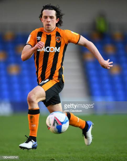 George Honeyman of Hull City runs with the ball during the Sky Bet League One match between AFC Wimbledon and Hull City at Plough Lane on February...