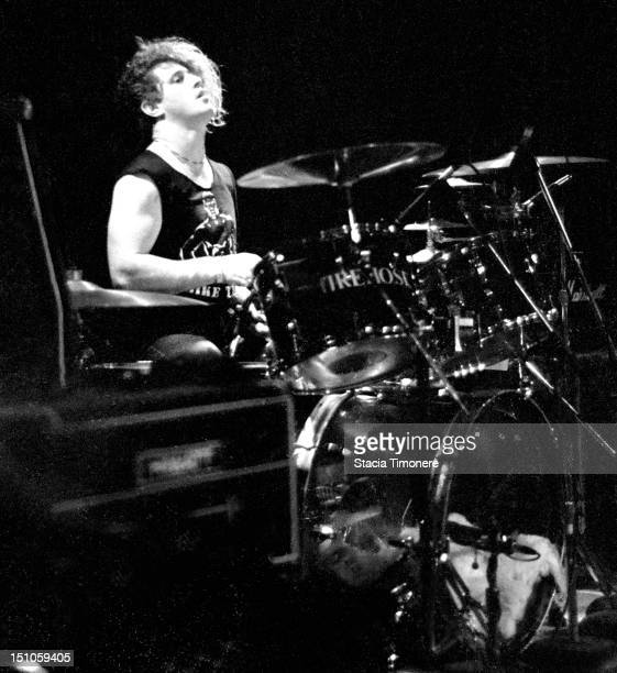 George Hurley of alternative US rock band fIREHOSE performs on stage at Cabaret Metro in Chicago Illinois USA on 22nd March 1987