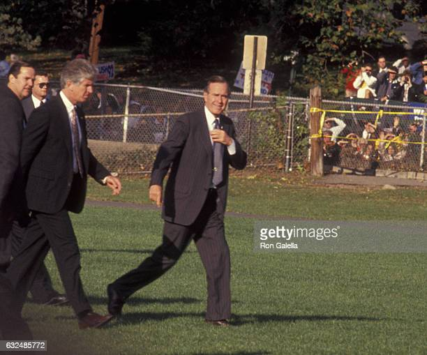 George H.W. Bush attends George H.W. Bush Campaign Rally on October 22, 1992 at Veterans Field in Ridgewood, New Jersey.