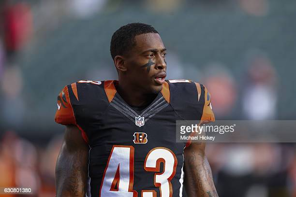 George Iloka of the Cincinnati Bengals is seen before the game against the Baltimore Ravens at Paul Brown Stadium on January 1 2017 in Cincinnati Ohio