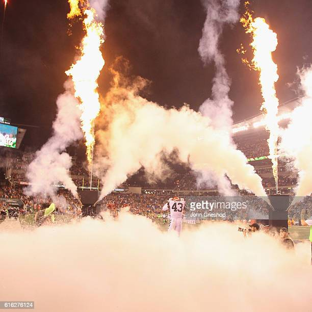 George Iloka of the Cincinnati Bengals takes the field for the game against the Miami Dolphins at Paul Brown Stadium on September 29 2016 in...