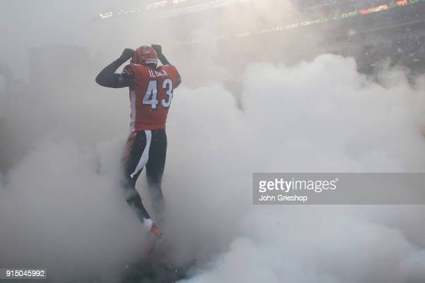 George Iloka of the Cincinnati Bengals takes the field for the game against the Buffalo Bills at Paul Brown Stadium on Ocotber 8 2017 in Cincinnati...
