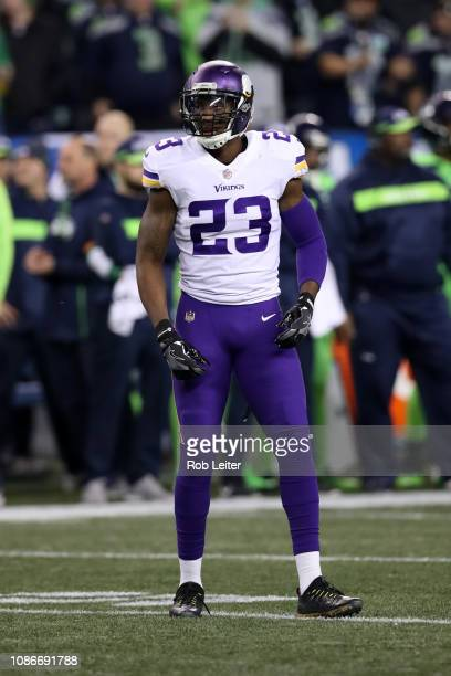 George Iloka of the Minnesota Vikings in action during the game against the Seattle Seahawks at CenturyLink Field on December 10 2018 in Seattle...