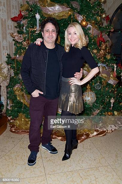 George J. Maloof Jr. And Kelly Carrington attend Adrienne Maloof's Annual Holiday Party with Never Too Hungover on December 24, 2016 in Beverly...