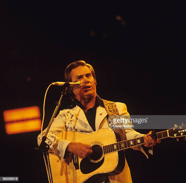 George Jones performs on stage at the Country Music Festival held at Wembley Arena London in April 1981