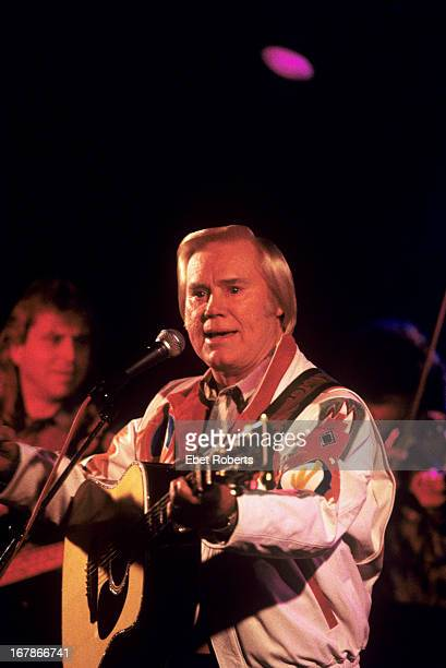 George Jones performs on stage at Tramps in New York City on 12th November 1992