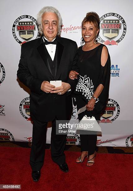 George Joseph and his wife Candice Joseph daughter of late boxer and inductee Joe Louis arrive at the second annual Nevada Boxing Hall of Fame...