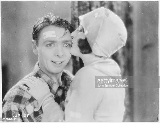 George K Arthur as Peter Good and Gertrude Olmstead as Any in the 1926 silent film The Boob