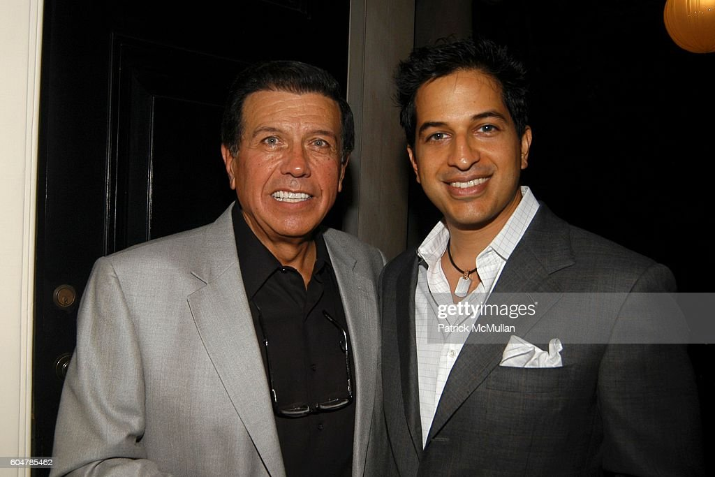 George Karalekas and Omar Amanat attend Tom & Kathy Freston and Lynn & Evelyn de Rothschild host a Party to Celebrate Arianna Huffington's New Book, 'ON BECOMING FEARLESS' at Tom & Kathy Freston Residence on September 23, 2006 in New York City.