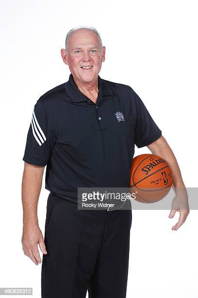 George Karl of the Sacramento Kings poses for a photo on media day September 28 2015 at the Kings practice facility in Sacramento California NOTE TO...