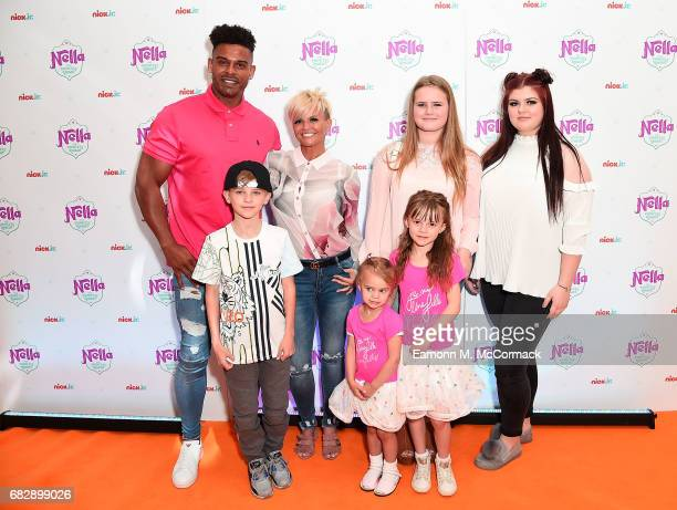 George Kay Maxwell Mark Croft Kerry Katona LillySue McFadden Molly McFadden and Heidi Croft attend the UK premiere for the brand new Nick Jr show...