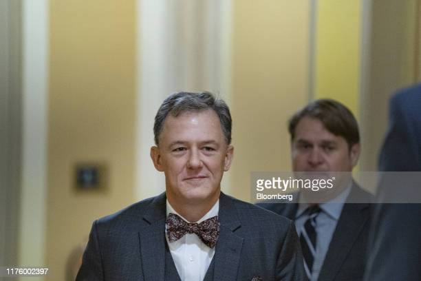 George Kent deputy assistant US secretary of state arrives for closeddoor testimony before House committees on Capitol Hill in Washington DC US on...