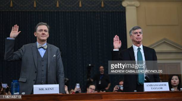 George Kent the deputy assistant secretary of state for European and Eurasian Affairs and Ukrainian Ambassador Bill Taylor the top diplomat in the US...