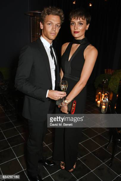George King and Wallis Day attend the dunhill and Dylan Jones preBAFTA dinner and cocktail reception celebrating Gentlemen in Film at Bourdon House...